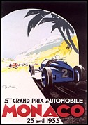 Rally Digital Art Posters - Monaco Grand Prix 1933 Poster by Nomad Art And  Design