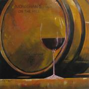 Wine Barrel Paintings - Monaghans On The Hill by Phil  King