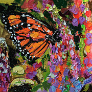 Ginette Fine Art LLC Ginette Callaway - Monarch Butterfly on Lupines