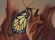 Butterfly Art - Monarch calling by Maria  Duenas