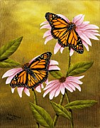 Rick Bainbridge - Monarchs and Coneflower