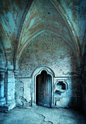 Cloistered Prints - Monastery Door Print by Jill Battaglia