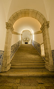 Cloistered Prints - Monastery of St. Vincent Grand Staircase Print by Deborah Smolinske