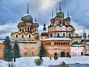 Siberia Digital Art - Monastery Walls by Yury Malkov