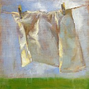 Donna Shortt Painting Metal Prints - Monday is Wash Day Metal Print by Donna Shortt