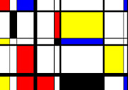 Mondrian Digital Art Posters - Mondrian Digital Art Poster by Sergio Verrecchia