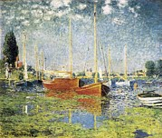 Outside Pictures Prints - Monet, Claude 1840-1926. Argenteuil Print by Everett