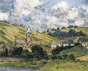Vetheuil Framed Prints - Monet, Claude 1840-1926. Landscape Framed Print by Everett
