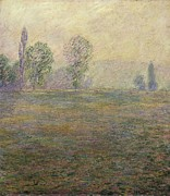Eure Metal Prints - Monet, Claude 1840-1926. Meadows Metal Print by Everett
