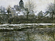 Effet De Neige Framed Prints - Monet, Claude 1840-1926. The Church Framed Print by Everett