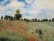 Exterior Pictures Posters - Monet, Claude 1840-1926. Wild Poppies Poster by Everett
