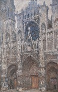 Mondjulygp1 Art - Monet Claude, Rouen Cathedral. Grey Day by Everett