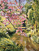 Vivid Colors Painting Posters - Monet Spring Poster by David Lloyd Glover