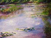 Claude Drawings - Monet Water Lilies by Eric  Schiabor