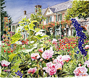 Featured Paintings - Monets Garden Giverny by  David Lloyd Glover
