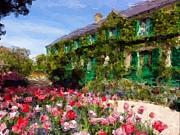 Monet Pastels Prints - Monets Home - Giverny Print by Jarvis Noble