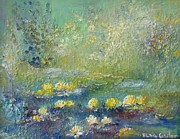 Lilly Pond Paintings - Monets Lilly Pond by Elsa Cristina Gailor