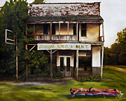 Corruption Paintings - Money Mississippi by Adam Winnie