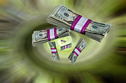 Blend Photos - Money Spiral by Russell Shively