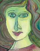 Portraits Paintings - Monique  by Oscar Penalber