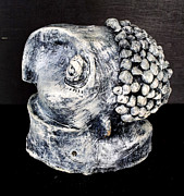 White Sculpture Prints - Monitor Black and Grey Print by Mark M  Mellon