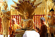 Ceremony Photos - Monk Ceremony - Wat Phrathat Doi Suthep - Chiang Mai Thailand - 01138 by DC Photographer