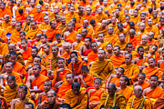 Monk Mass Alms Giving Print by Fototrav Print