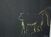 Early Pastels Originals - Monkey at Dawn by Teresa Smith