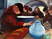 Bread Paintings - Monks at Prayer by William Cain