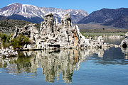 Linda Dunn Art - Mono Lake and Sierra Mtns by Linda Dunn