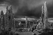 Stormy Metal Prints - Mono Lake Drama Metal Print by Dave Dilli