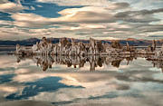 Lake Framed Prints - Mono Lake Reflections Framed Print by Cat Connor
