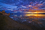 Mono Lake Sunrise Print by Priscilla Burgers