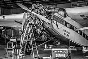 Ford Tri-motor Framed Prints - Mono Tri-Motor Framed Print by Chris Smith