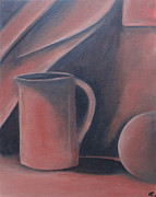 Comfort Paintings - Monochrome Jug by Laura Charlesworth