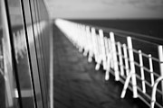 Soft Sun Framed Prints - Monochrome Sun Deck Framed Print by Anne Gilbert