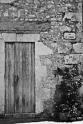 Old Door Photos - Monochrome Vintage Door by Georgia Fowler