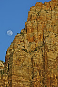 Monolith Framed Prints - Monolith And Moon Framed Print by SC Heffner