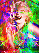 Royalty Digital Art Posters - Monroe 20130618litn Poster by Wingsdomain Art and Photography