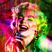 Royalty Digital Art Posters - Monroe 20130618so square Poster by Wingsdomain Art and Photography