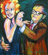 Capote Framed Prints - Monroe and Capote Framed Print by Les Leffingwell