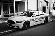 Patrol Car Acrylic Prints - Monroe County Sheriff Patrol Squad Car Key West Florida Usa Acrylic Print by Joe Fox
