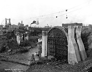 Monroe St Bridge Construction 1910 Print by Daniel Hagerman