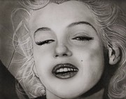 Norma Jean Drawings - Monroe by Terry  McColl