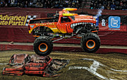 Freestyle Posters - Monster Truck - El Toro Loco Poster by Paul Ward