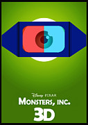 Green Monster Prints - Monsters Print by Beni Cufi