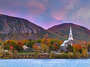 Canada Prints - Mont-Saint-Hilaire Quebec on an Autumn Day Print by Laurent Lucuix