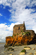Fortress Metal Prints - Mont Saint Michel abbey fragment Metal Print by Elena Elisseeva