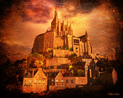 Kylie Sabra Metal Prints - Mont Saint-Michel Metal Print by Kylie Sabra