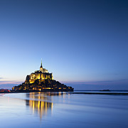 Copy Space Prints - Mont St Michel Normandy France Print by Colin and Linda McKie